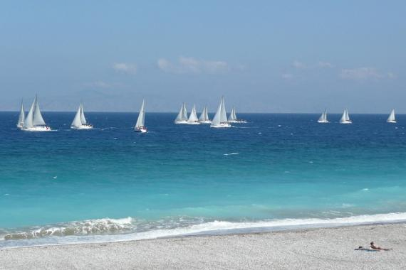 'Global MBA Trophy Yacht Race, off Ixia Beach - Rhodes, 30 April 2011' - Rhodos